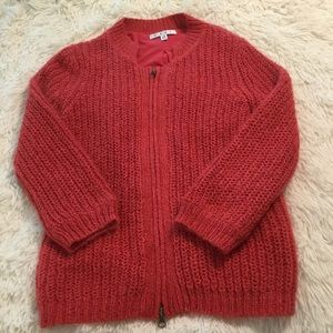 CAbi Pink Zip Up Sweater. Size XS.